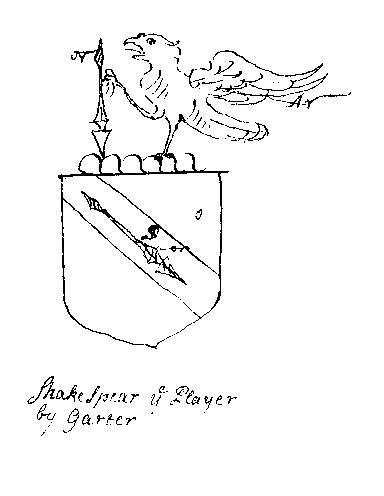 garter crest of Shakespeare
