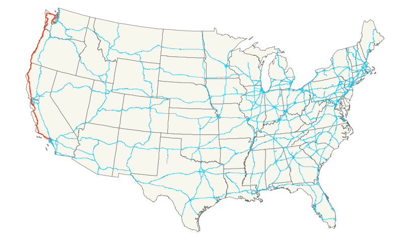 Us Route Map Highway Map Us Highway Map California - Us route 50 map