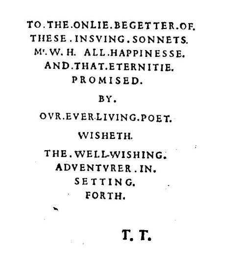 sonnets frontispiece