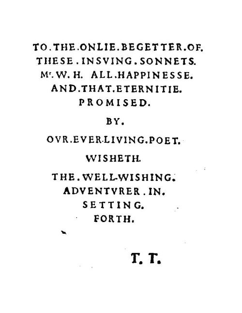 sonnet dedication