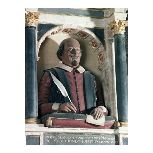 shakespeare church bust