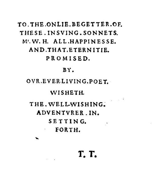 Sonnet frontispiece
