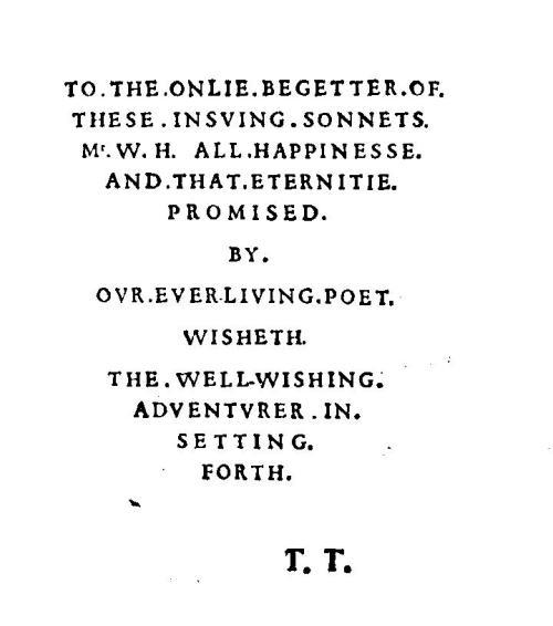 Sonnet frontispiece