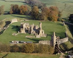 sherborne castle old from above 2.