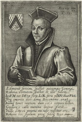 NPG D25344,Edmund Geninges,by M. Bas