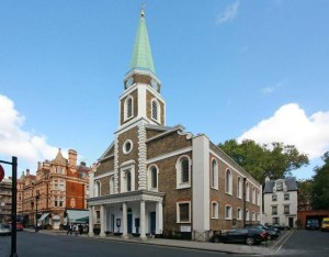 grosvenor chapel with Peter Pan house
