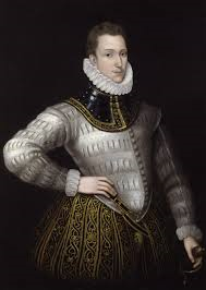 sidney sir philip hand on hip in white