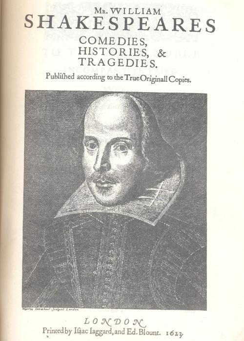 firrst folio frontispiece 001