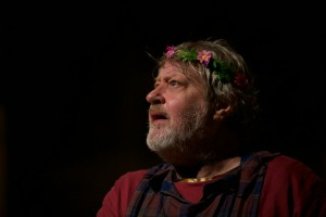 Stewart Trotter playing King Lear at Titchfield.