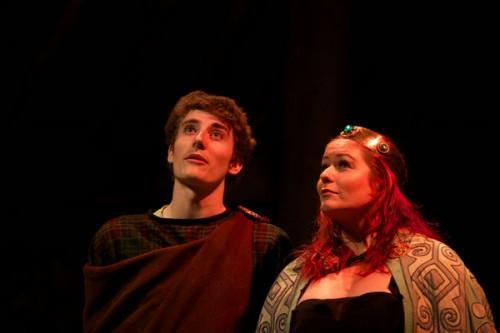 Tom Piercey as Cornwall and Kirsten Carmichael as Regan.