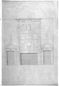 The fireplace at Copped Hall.