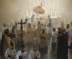 corpus christi procession in church