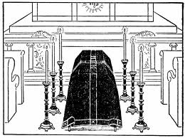 requiem mass illustration