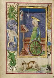 St. Catherine with her wheel.
