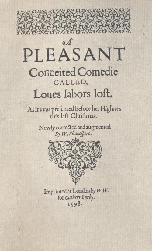 love's Labour's Lost frontispiece. 001