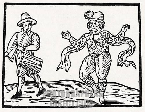 William Kempe - pictured in woodcut prefixed to Kempe s Nine Days Wonder , 1600 - English actor and dancer - dates unknown