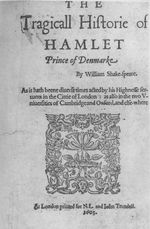 1603 Hamlet