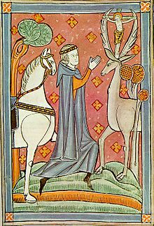 saint eustace with deer