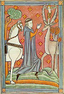 saint eustace with deer