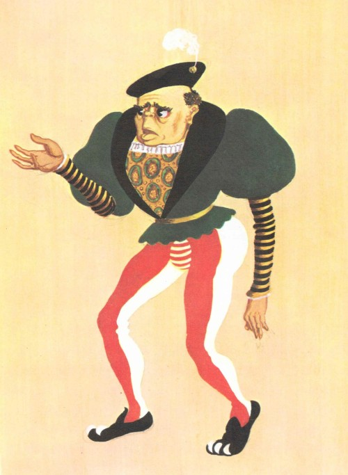 Lavache the Clown - design by Osbert Lancaster.